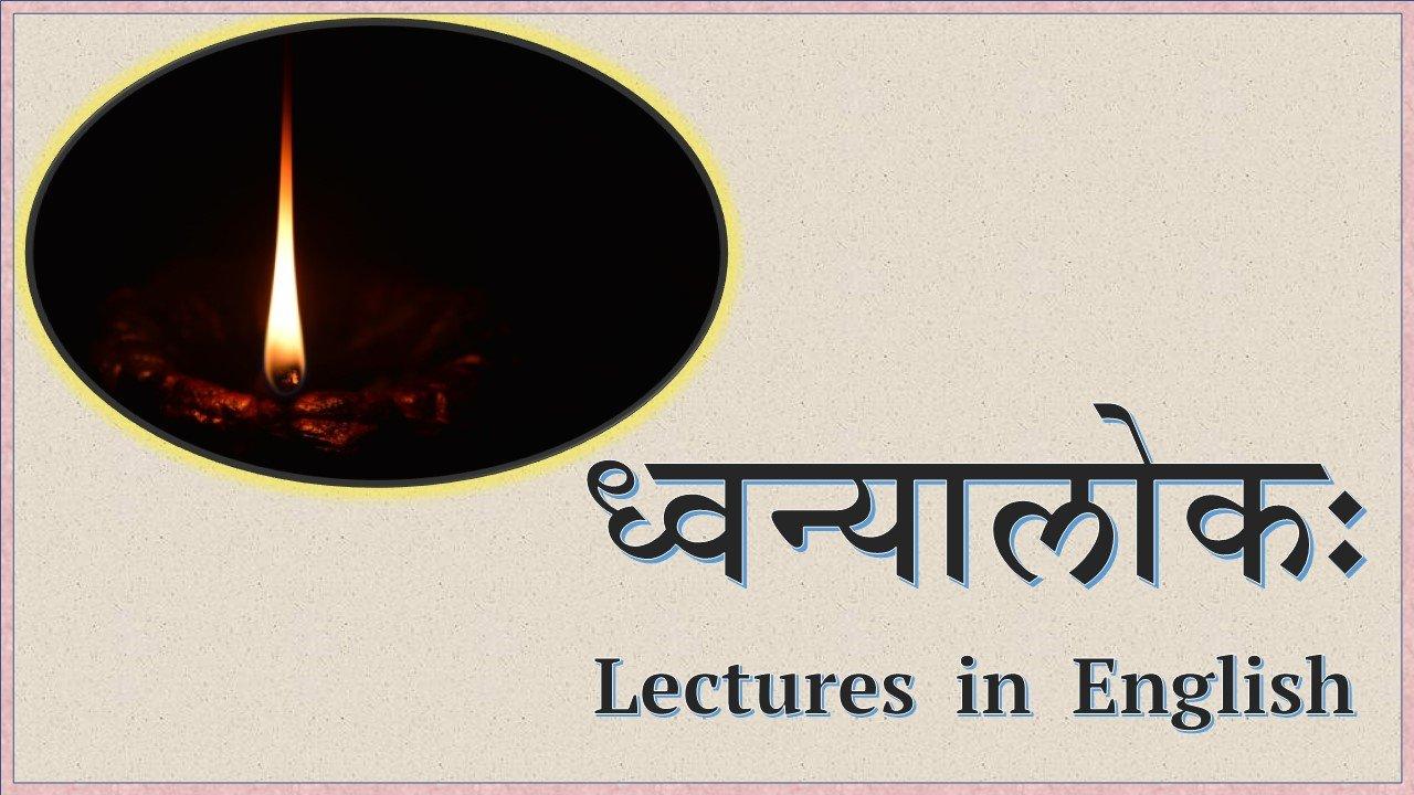 Dhvanyaloka Part 1 (Uddyotas 1,2,4 - English Explanation)